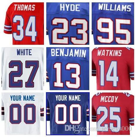 newest 9b262 10bed 2019 Buffalo Jim Kelly jersey Bills Bruce Smith Micah Hyde vapor  untouchable color rush limited customized american football jerseys cheap