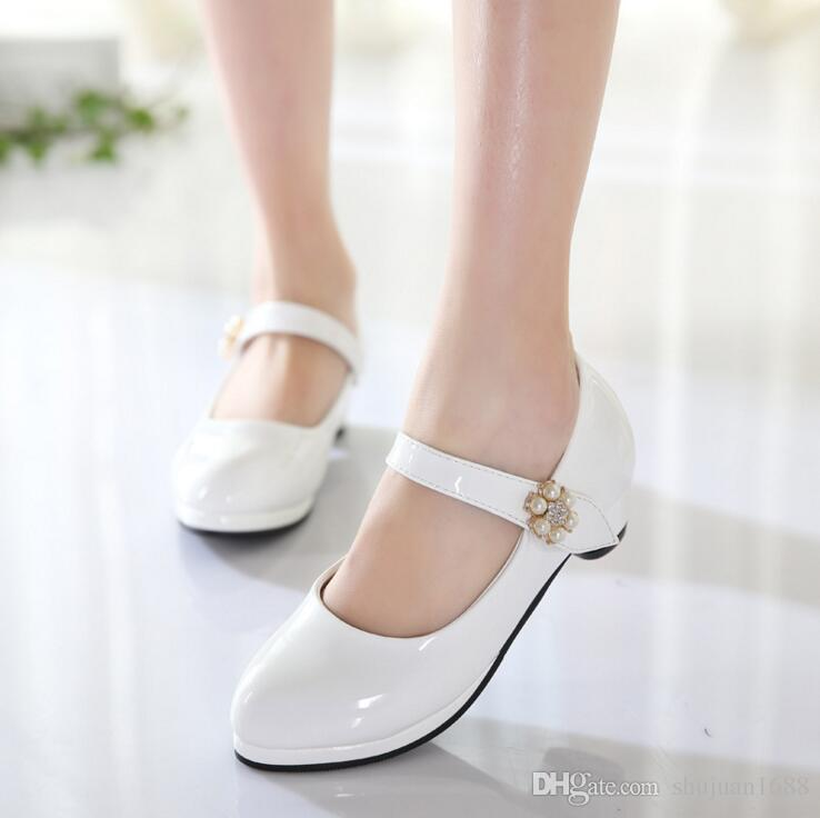 compre niños elegantes zapatos de princesa niños niñas boda zapatos