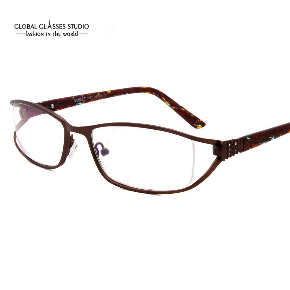 f933e489106 Woman Eye Glasses Frames Designers Optical Frame Metal Eyeglasses with  Little Stones Price 5058 Eyewear Fashion Acetate Online with  18.93 Piece  on ...