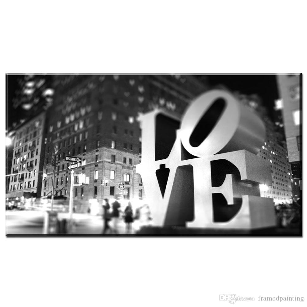 Black and white beauty Love canvas painting prints art oil painting for bedroom and living room No framed