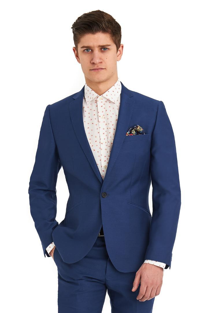 2019 Latest Coat Pant Designs 2018 Royal Blue Men Suit Smart Casual