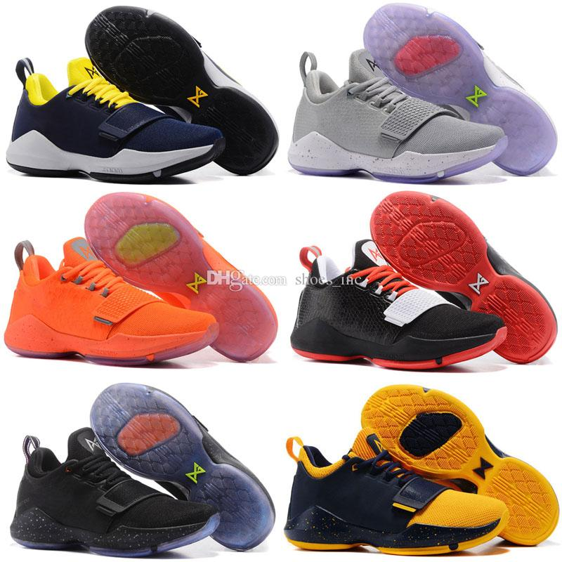 new concept 12498 8c246 2018 New Arrival Paul George 1 Woven Surface Men s Basketball Shoes for  Cheap Sale PG1 Signature pg Sports Training Sneakers Size 40-46