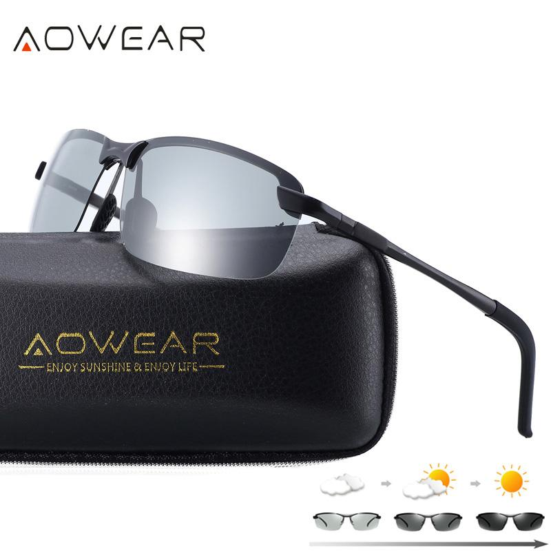7c5fc4ea29 AOWEAR HD Polarized Photochromic Sunglasses Men Driving Chameleon Glasses  Male Day Night Driver Goggles Oculos Lentes Sol Hombre Cheap Eyeglasses  Sunglasses ...
