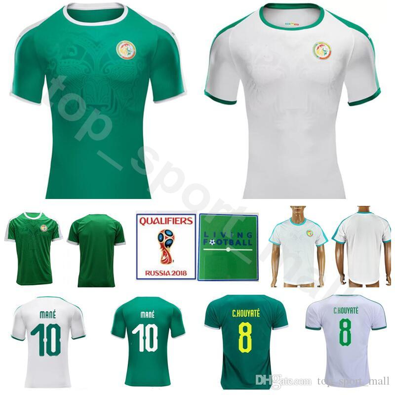 64f09792b4c 2019 Men Soccer Senegal Jersey 2018 World Cup 10 MANE 7 SOW 9 DIOUF Football  Shirt Kits Custom 14 KONATE 8 KOUYATE 19 NAING 18 SARR 13 NDIAYE From  Vip sport ...