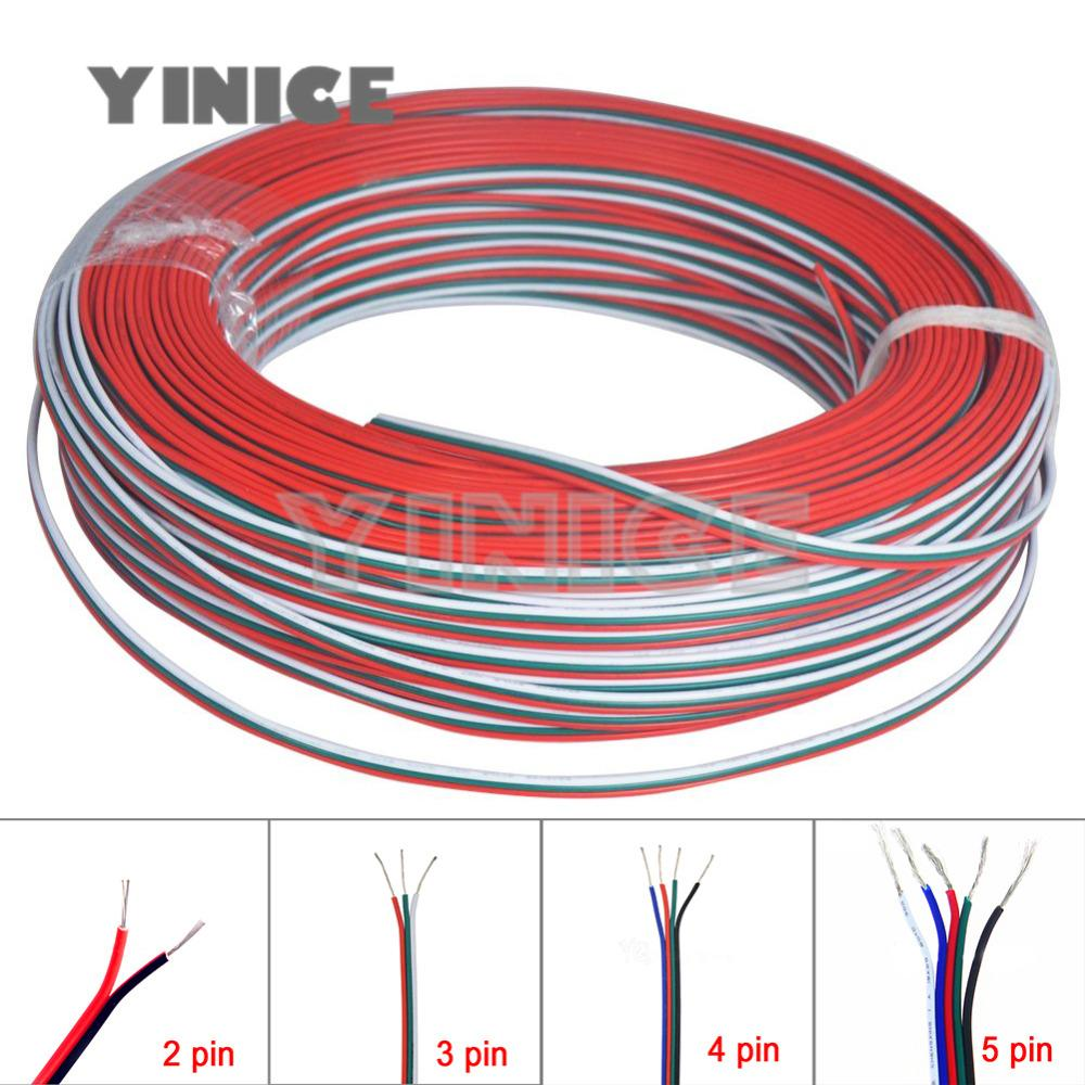 3pin 4pin 5pin 22awg Led Connect Led Rgb Wire Cable For Ws2812 ...
