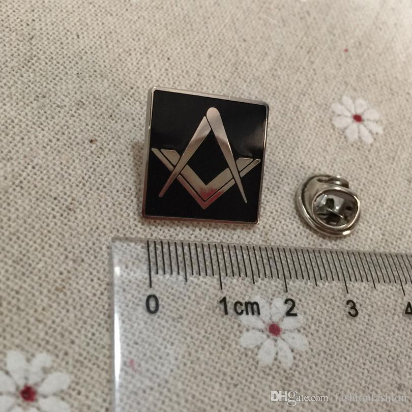 Masonic Freemason Lapel Pin Badges Brooches Nickel Plated Square And ... b87ebf78b92e