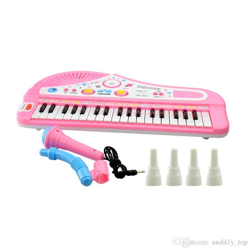 37 Touches Electone Mini Clavier Électronique Jouet Musical avec Microphone Éducatif Piano Électronique Jouet pour Enfants Enfants Bébés