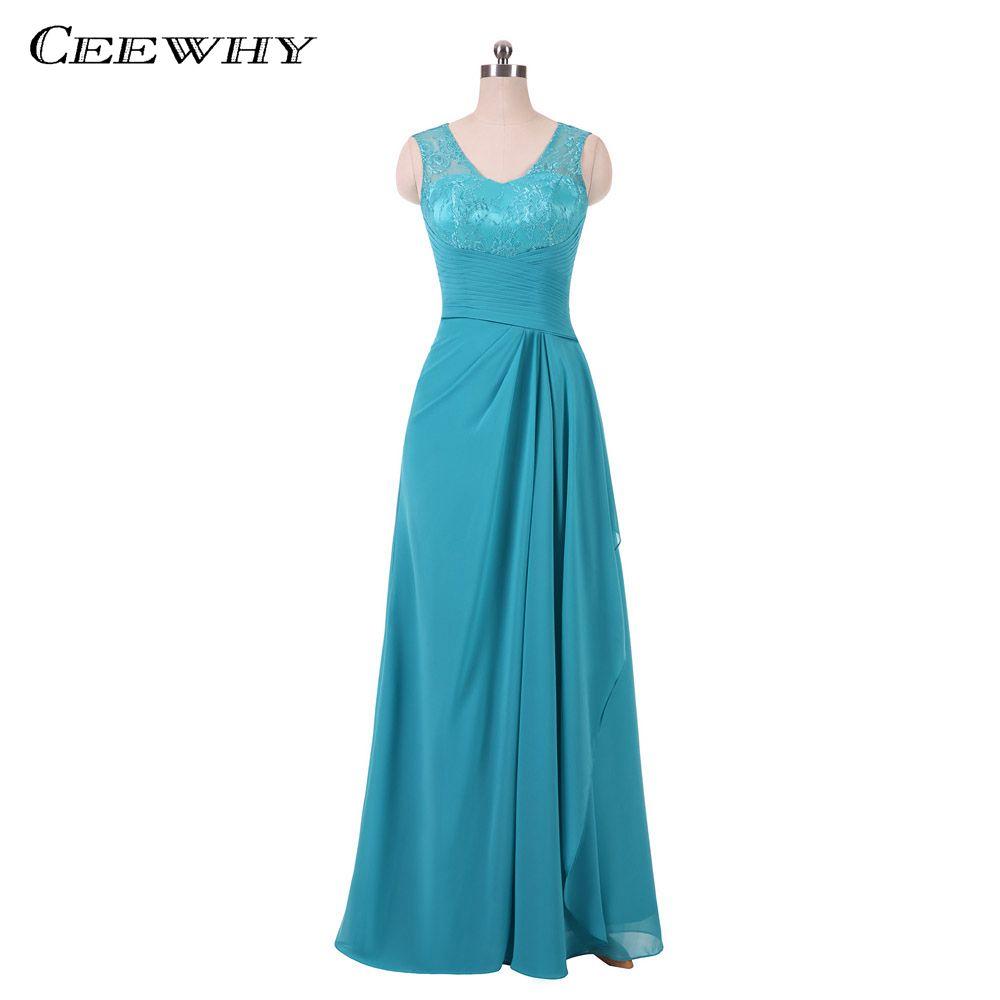 Ceewhy Robe De Soiree Lace Chiffon Evening Dress Luxury Prom Dresses ...