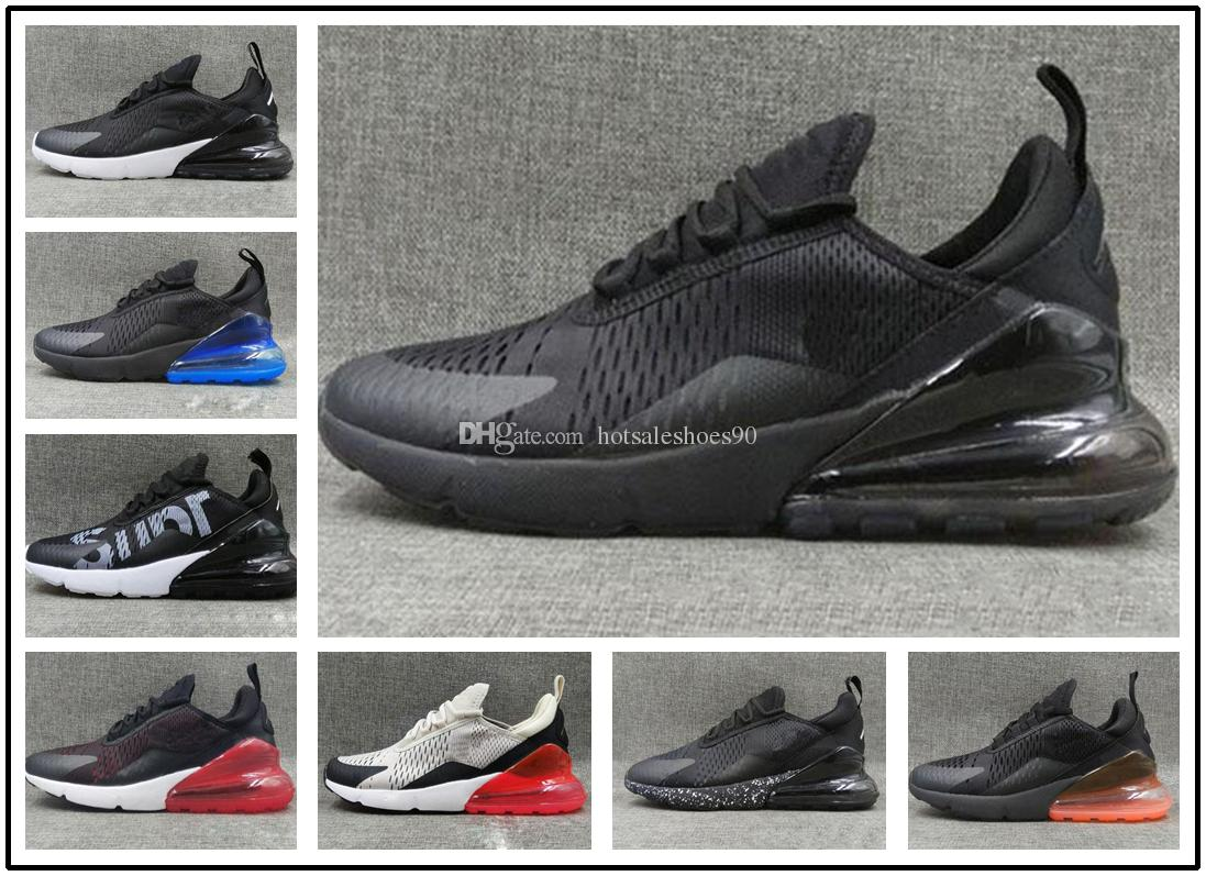 1b2bbec9f63554 2018 Mens Designer 270 Running Shoes 270s Women Sneaker Hot Punch Triple  Black White Oreo Teal Photo Blue Sports Sneakers Size 5.5 11 Track Shoes  For Kids ...