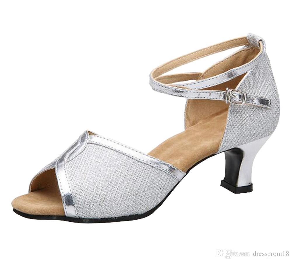 إمرأة X جلد التألق اللاتينية السالسا قاعة الرقص أحذية 2