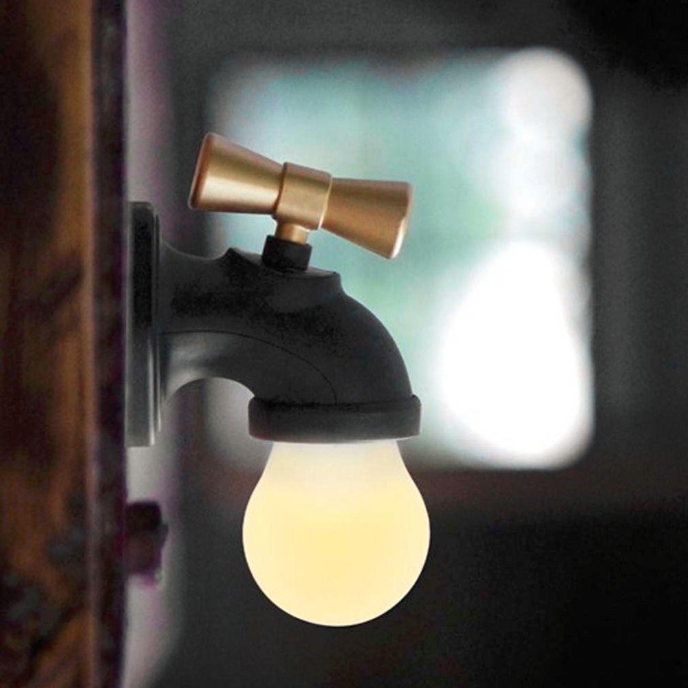 Online Cheap 2017 Unique Water Tap Shape Lamp Rechargeable Voice ...