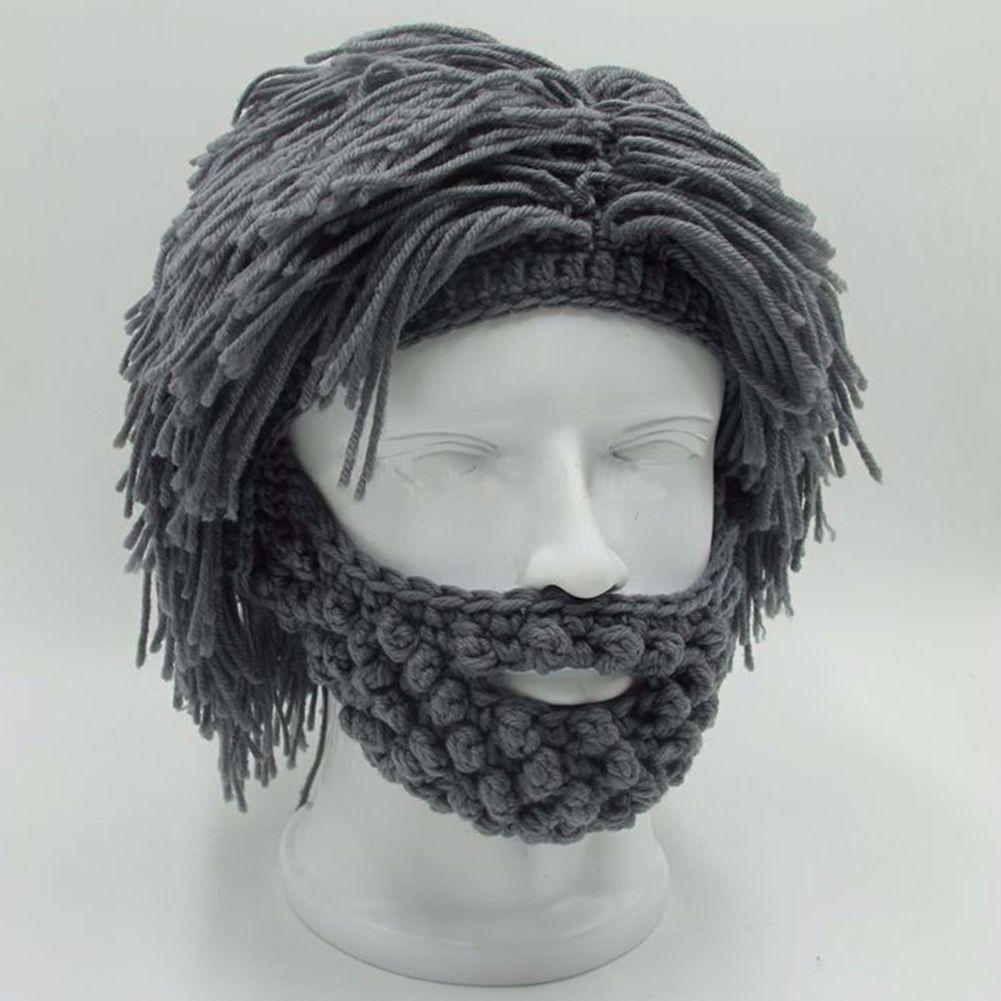 8033778b136 2019 NaroFace Handmade Knitted Men Winter Crochet Mustache Hat Beard Beanies  Face Tassel Bicycle Mask Ski Warm Cap Funny Hat Gift From Onecherry