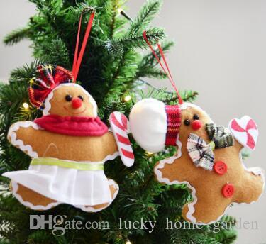 gingerbread man stuffed snowman santa claus doll doll decoration hanging pendant christmas ornament essential for life lovely christmas decor sale christmas