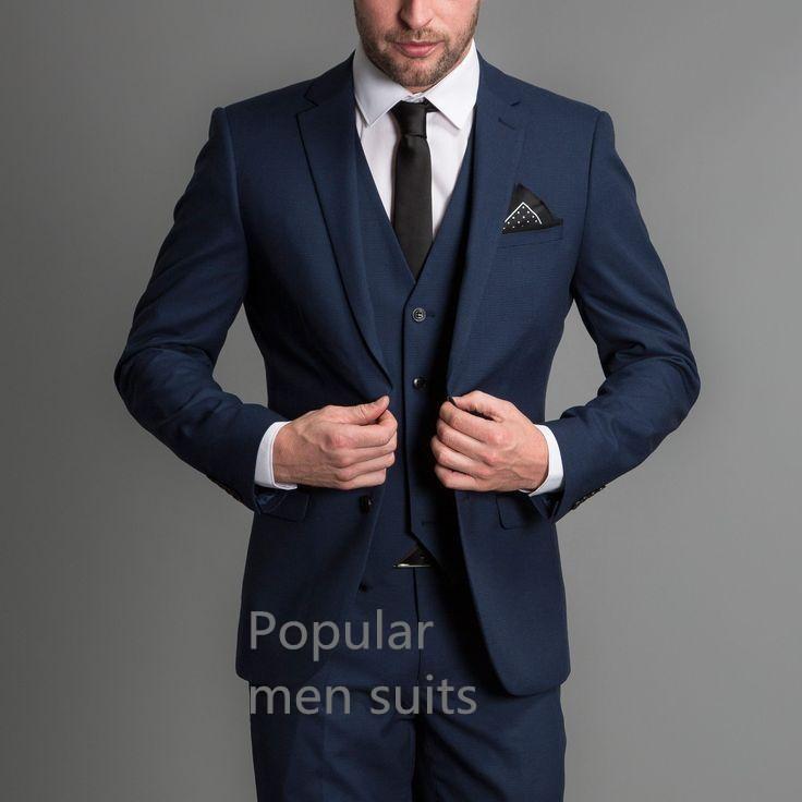 2019 2018 Latest Coat Pant Designs Navy Blue Classic Men Suit Slim Fit  Modern Wedding Blazer Custom Made Jacket+Pant+Vest From Eggplant18 3eb3b882a8e8