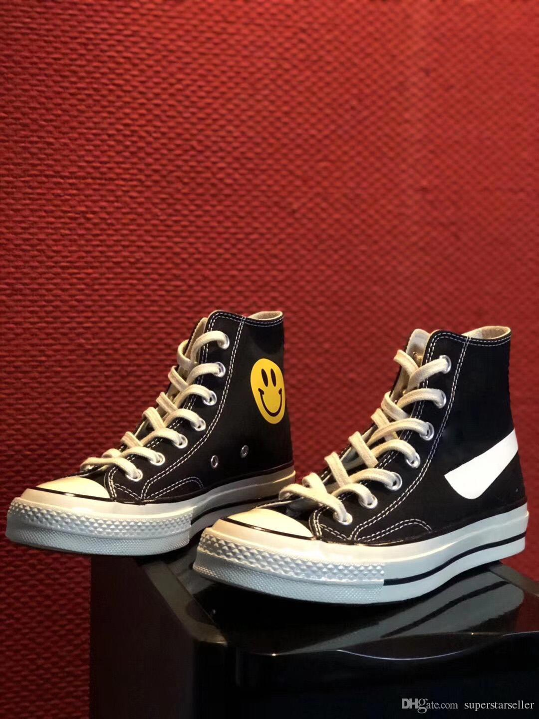 82d4d91328d 2018 New Chinatown Market X 1970s Chuck Smiling Face All Canvas Shoes Smile  Star Designer Skate Shoes Men Women Casual Sneakers Chaussures Sneakers  Online ...