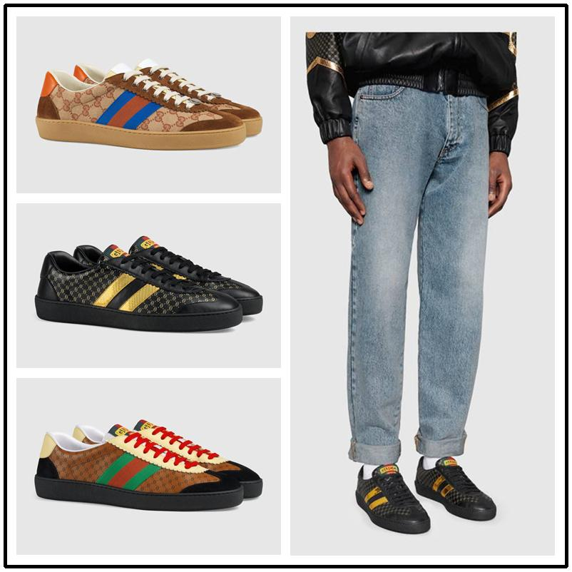 6a8ed7af5de42 2018 Best Quality ACE Designer Shoes White Sports Stripe Genuine Leather  Web Designer Sneaker Luxury Brand Mens Womens Casual Shoes Deck Shoes Boat  Shoes ...