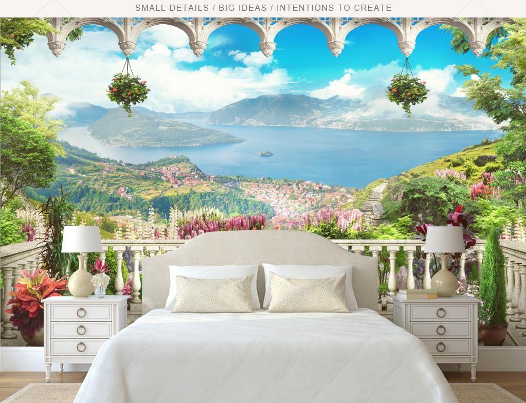 Beibehang Fashion 3d Big Mural Wallpaper Hd Balcony Window: Wholesale Murals 3d Wallpapers Home Decor Photo Background
