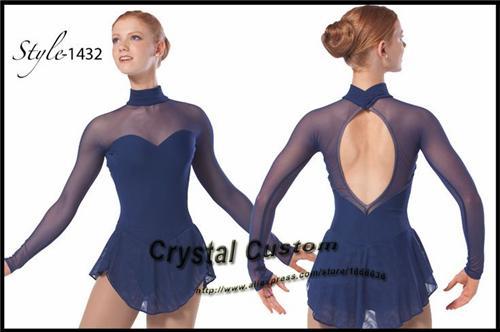 7655dd76d Vestidos de patinaje artístico para niñas Moda nueva marca Ice Competencias  de patinaje artístico DR3463