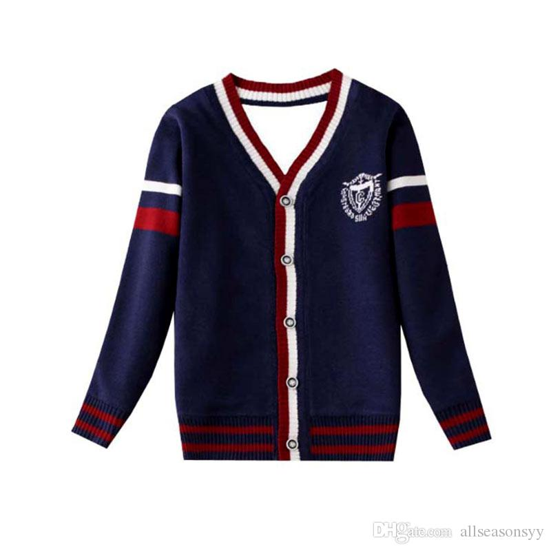 85112c13a073 Baby Sweater Boy Cotton Soft Cardigan Long Sleeve V-Neck Girls ...