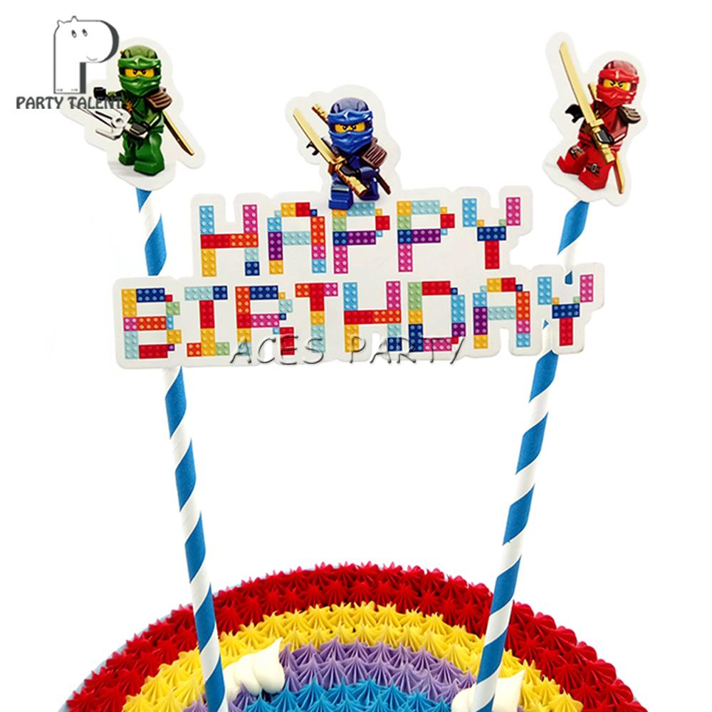 2019 Ninjago Ninja Theme Topper For Boys Kids Children Birthday Party DIY Baking Cake Decoration Accessory From Huojuhua 2577