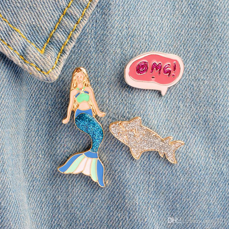 Arts,crafts & Sewing Apparel Sewing & Fabric Bright 1 Pcs Fairy Tale Princess Dress Metal Brooch Button Pins Denim Jacket Pin Jewelry Decoration Badge For Clothes Lapel Pins