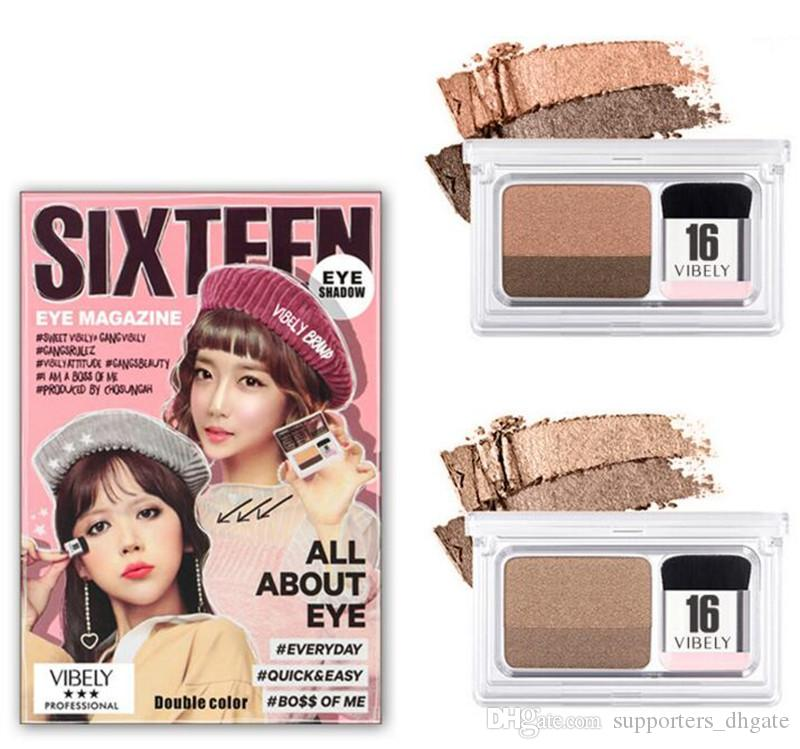 New Sixteen 16 Brand Double Color Eyeshadow Eye Magazine One Step