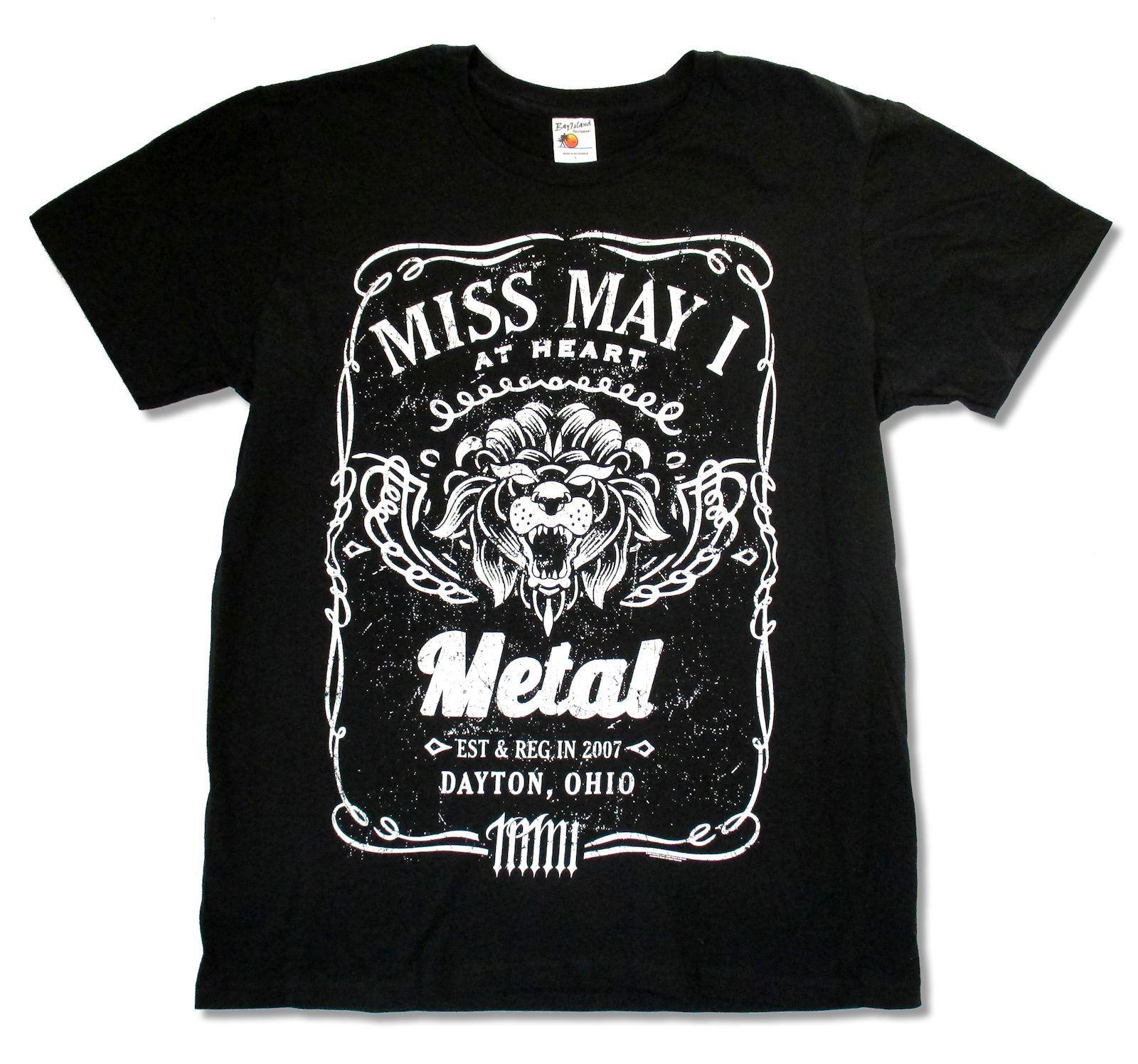 Miss May I Lion Black T Shirt New Official Adult Short Sleeve O Neck