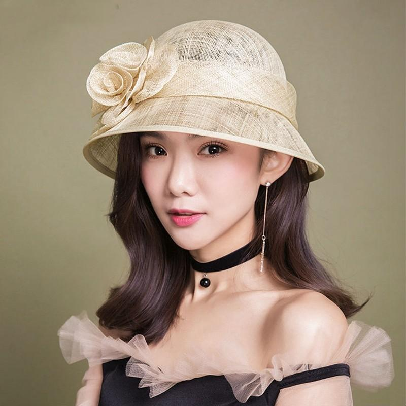 af9dc372d37 Women Summer Hat Top Quality Grace Banquet Hats Lady Wedding Fedora Hat Hats  And Caps Fedora Hats For Women From Haoyunduo