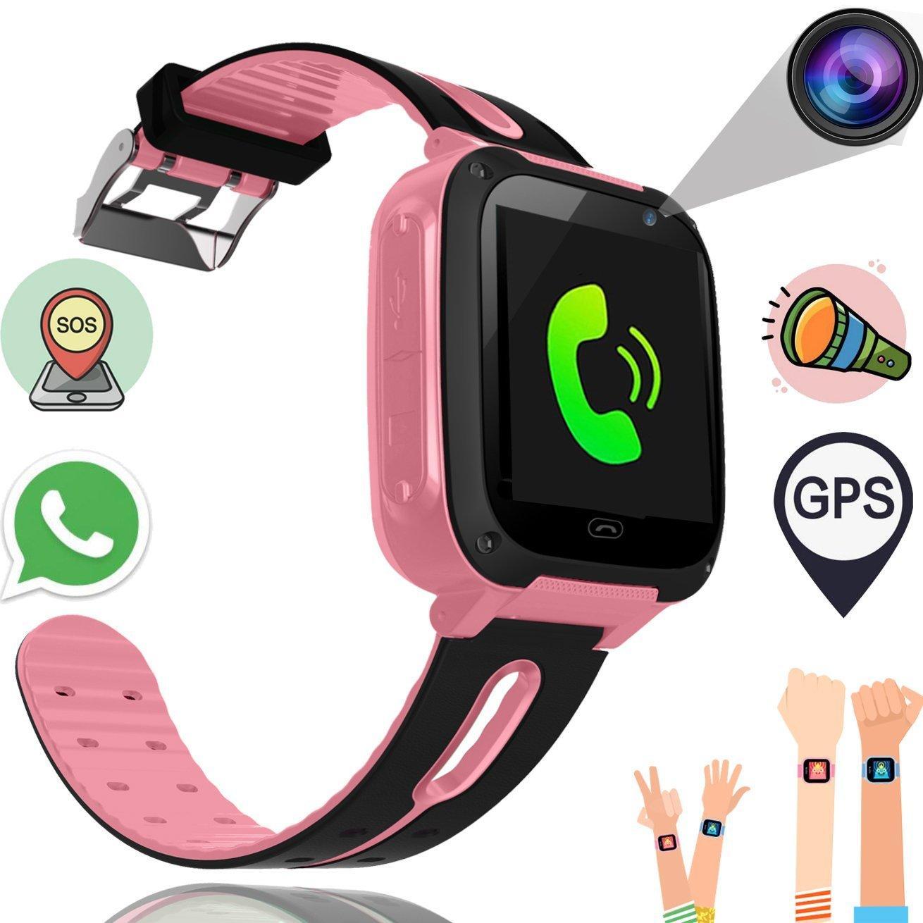 352910164 Kids Smart Watch Phone Boys Girls GPS Tracker Smart Wrist SIM Fitness  Trackers Camera Touch Screen Anti Lost Wearable Bracelet Smart Watches Men  Smart ...