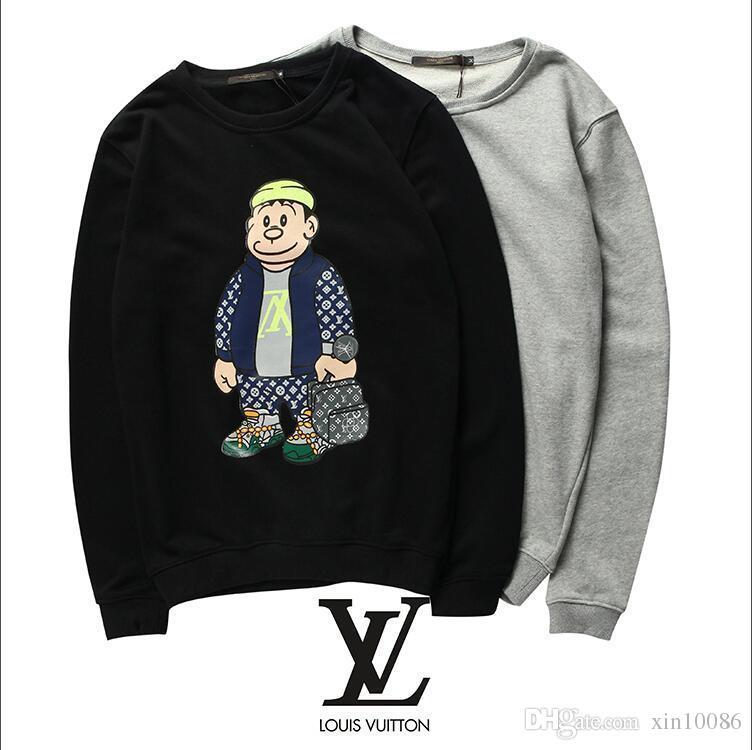 eab8cc16c15c High Quality Designer Printed LOGO Sweater Black Gray White S ~ XXL Hoodeis  Sweatshirts Fashion Men O-neck Sweatshirt Women Hoodies Men s Hoodies ...