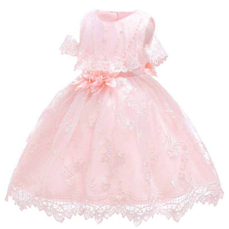 2019 Newborn Toddler Girl Floral Baptism Dress Baby Girls Princess Tulle Formal Dresses 1st Year Birthday Gift Kids Party Clothes From Entent