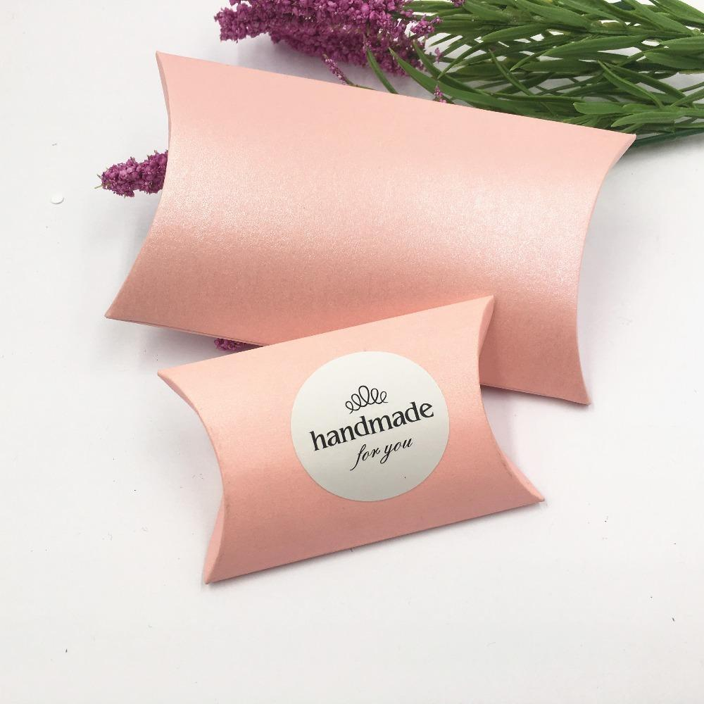 New Large Boutique Candy Gift Packaging Pillow Box ,Pink Wedding ...
