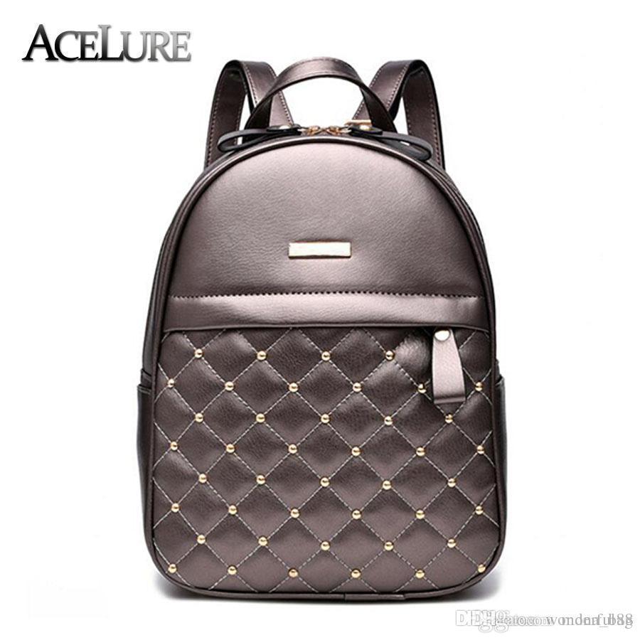 Women Backpack Hot Sale Fashion Causal Bags High Quality Bead Female ... 74e46cf8cc028