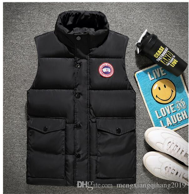 2018 Retail and wholesale original single man down - down vest for 95 fleece to build a light thermal vest winter style vest.