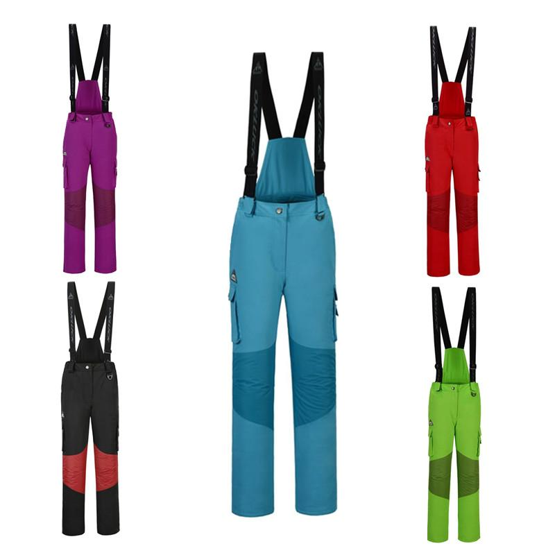 New High Quality Outdoor Sports Women s Ski Pants Straps Windproof  Waterproof Wear-resistant Warm Colorful Winter Snow Ski Pants Skiing Pants  Cheap Skiing ... c5706ebe8