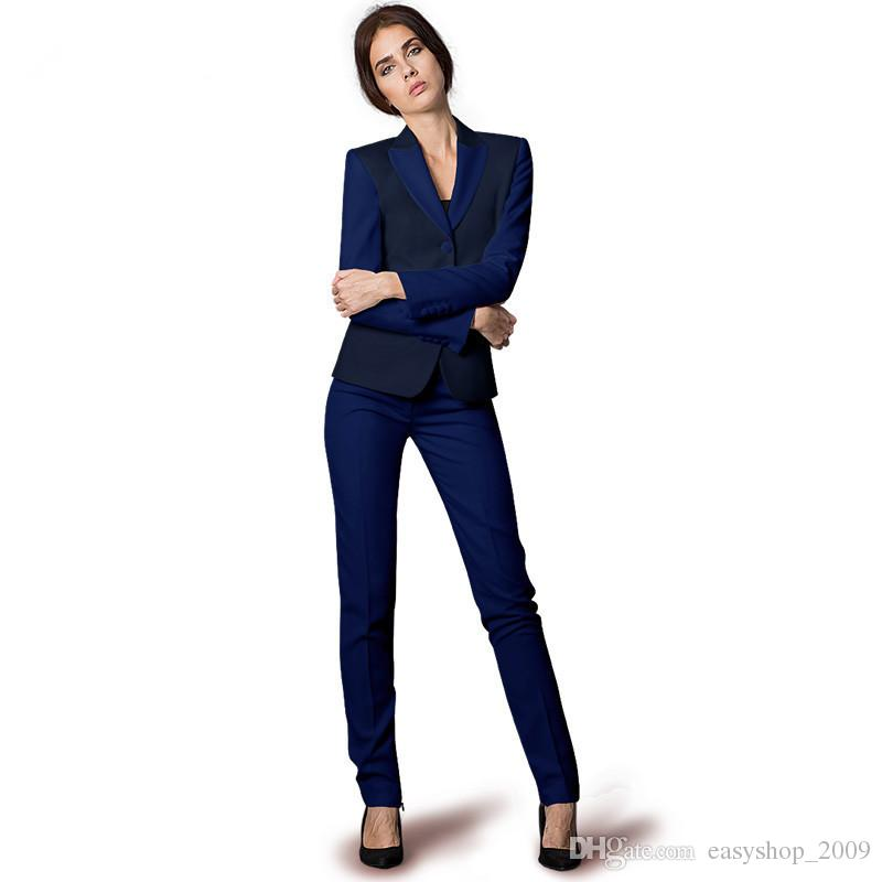 Stylish Business Women Suits Office Formal Suits Blazer With Work Pants Trousers Ladies Wear Suit