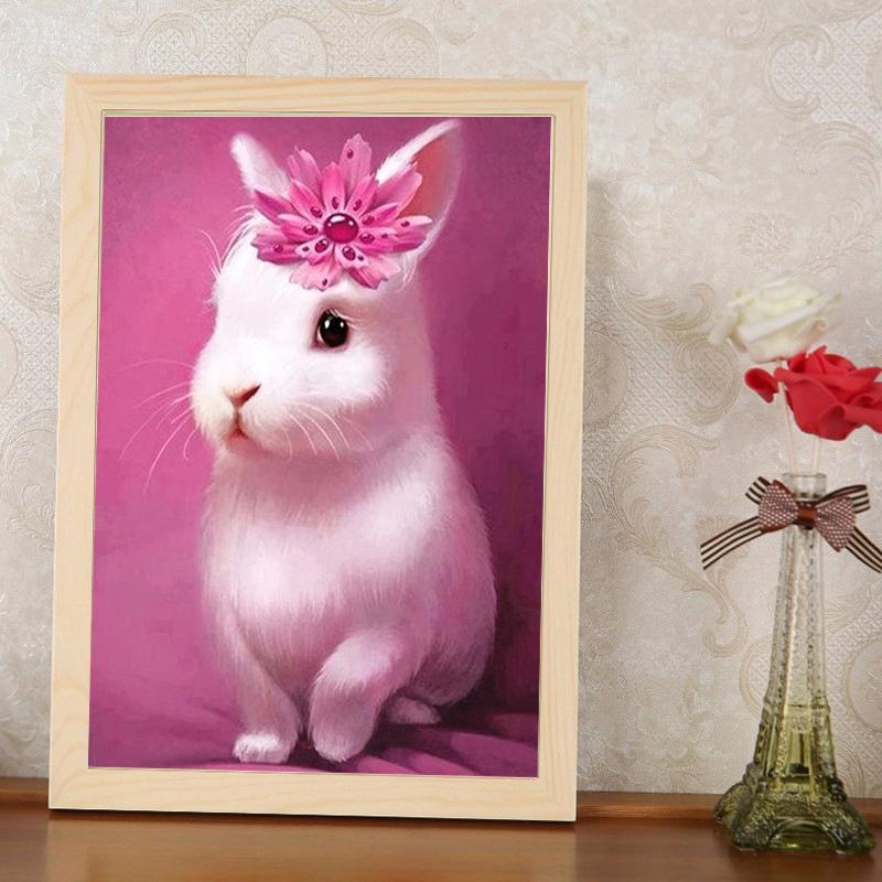 Satın Al Toptan Elmas Boyama Pembe Güzel Bunny Tam Elmas Nakış