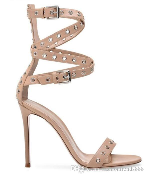 ccd6d10519474 2018 Fashion Women Open Toe Sandals Ankle Strap High Heels Party ...