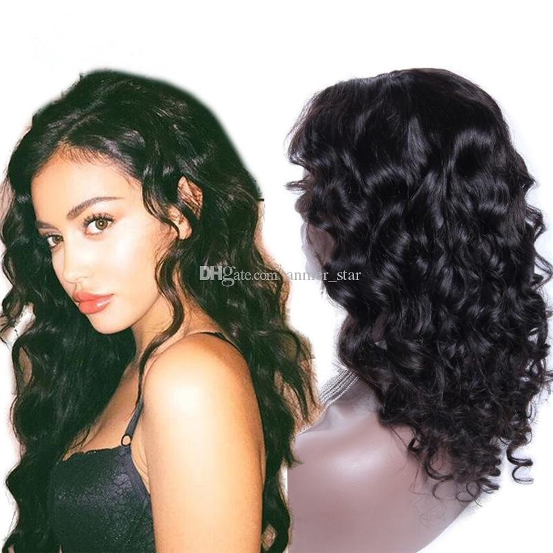 Malaysian Deep Curly Wave Human Hair Lace Front Wigs 8-24inch New Arrival Full Lace Wig Natural Color Glueless Lace Wigs Great Remy Retail