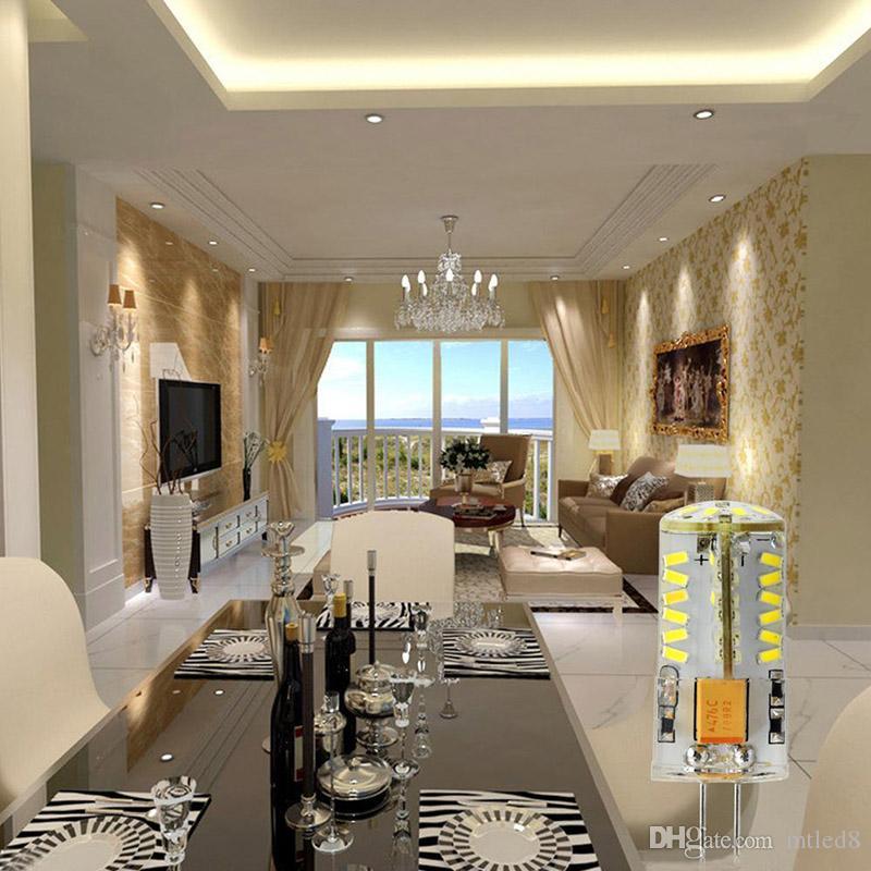G4 AC DC 12V 220V LED lámpara del maíz 3W 5W 6W 8W 9W LED 3014 bulbo del maíz de silicona Lámparas de araña de cristal de la decoración del hogar Luz