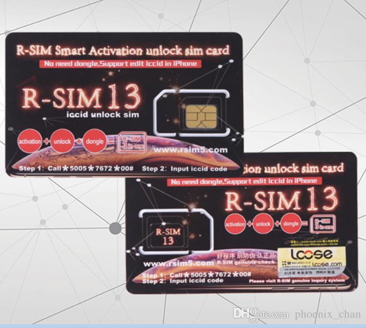 c69de7e13 Mais novo RSIM13 iPhone desbloqueando cartão R-Sim inteligente para iPhone  xmax iPhone8 iPhone 7 mais e i6 desbloqueado iOS 12.x-7.x 4G desbloqueio Em  ...