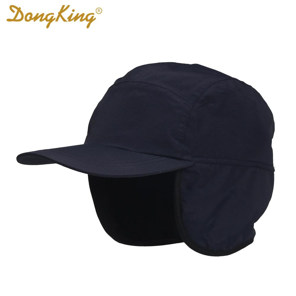 1a510738fb3c6 2019 Wholesale DongKing Winter Baseball Cap Keep Warm Earflap Polar Fleece  Adult Cap Water Proof Wind Proof Outdoor Hats Unisex Christmas Gift From  Monida