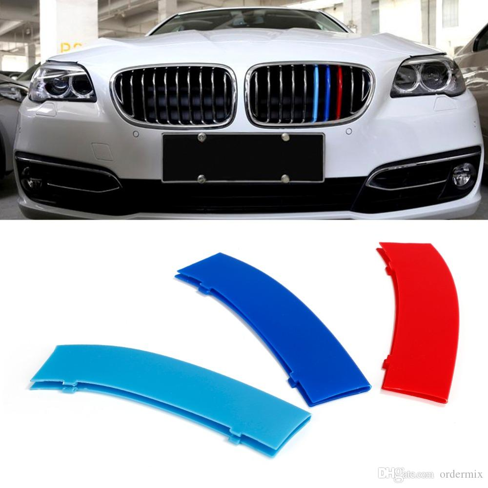 Car styling 3 Pcs/Set Front Grille Cover Decoration Trim Strips For BMW X3 X4 F25 F26 2011 2012 2013 2014 2015