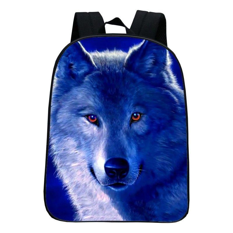 bb8c8d961dd Cool Animal Printing Wolf Kids Baby School Bags for Kindergarten Infantile  Schoolbag for Children Small Backpacks Boys Bookbag
