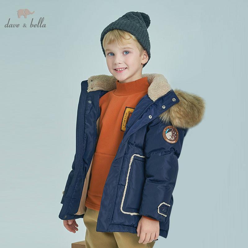 acheter en ligne 60687 cd36a DBK8358 dave bella winter enfants doudoune doudoune enfant duvet de canard  blanc manteau rembourré manteau enfants à capuche avec grande fourrure