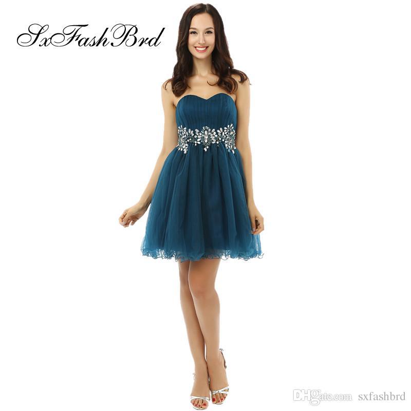 f9e5bc059bb0c Satın Al Moda Amaçlar Zarif Sevgiliye A Hattı Bel Kristaller Mini Kısa Tül  Parti Örgün Abiye Kadınlar Için Balo Elbise Törenlerinde, $96.52 |  DHgate.Com'da
