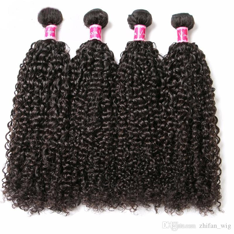 ZhiFan 100% Brazilian Human Hair Afro Kinky Curly Hair Bulks For African American Women Braiding Extensions