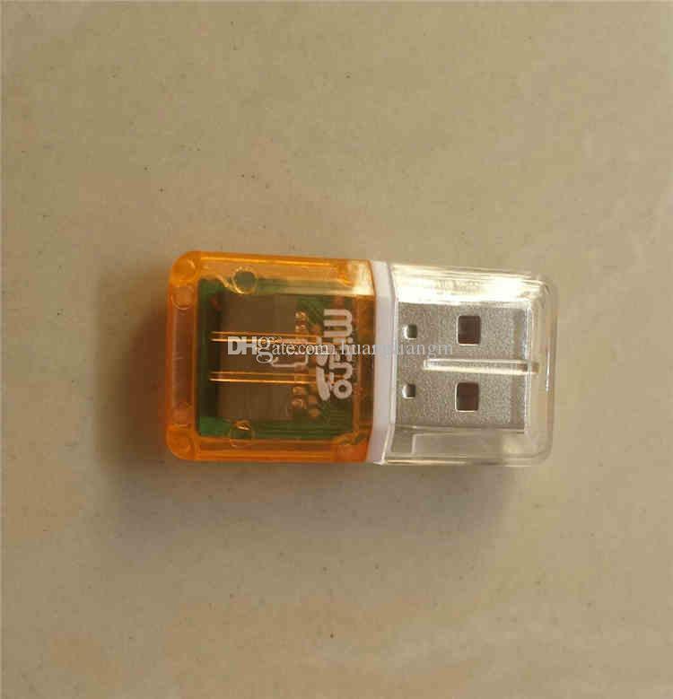 عالية السرعة الكريستال الشفاف usb 2.0 tf فلاش t- ذاكرة فلاش مايكرو sd قارئ بطاقة محول ل 2 جيجابايت 4 جيجابايت 8 جيجابايت 16 جيجابايت 32 جيجابايت 64 جيجابايت tf بطاقة