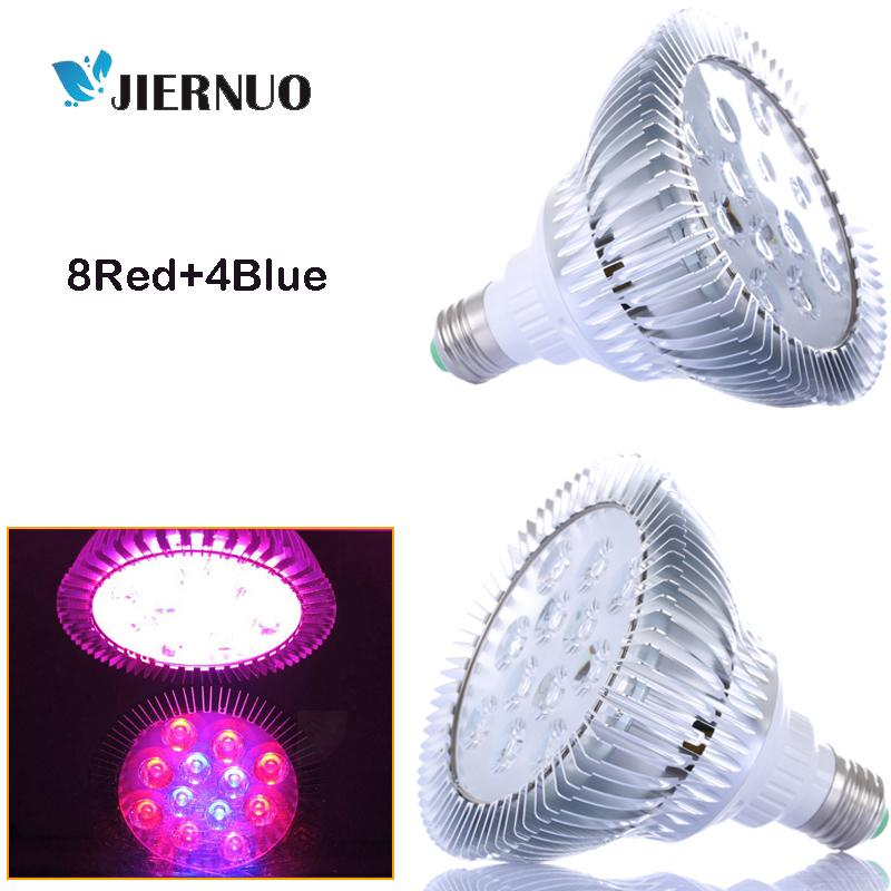 Led Grow Light E27 36w Led Plant Grow Lamp 8red+4blue For ...