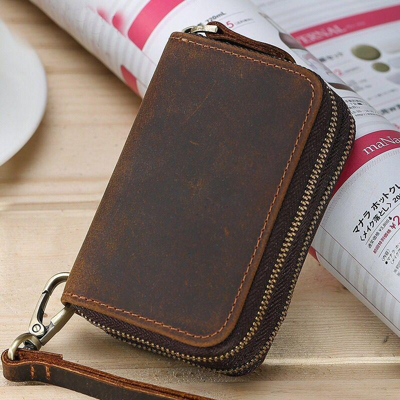 Vintage Men Crazy Horse Leather Key Wallets Multi Functional Cowhide Key  Purse Genuine Leather Coins Wallet For Man 8115R Woman Wallet Shop Bags  From ... 898409a91